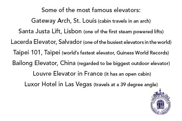 Famous Elevators